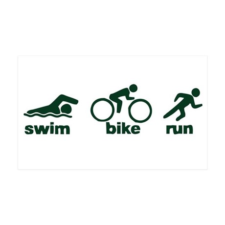 Swim Bike Run 38.5 x 24.5 Wall Peel