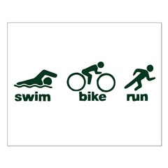 Swim Bike Run Posters