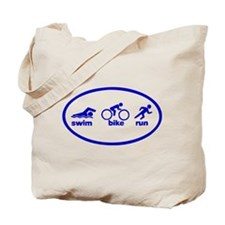 Swim Bike Run Tote Bag