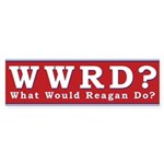 WWRD What Would Reagan Do Bumper Sticker