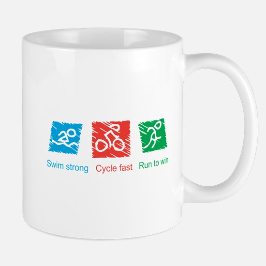 Swim Strong, Cycle Fast, Run to Win Mug