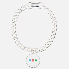 Swim Strong, Cycle Fast, Run to Win Bracelet