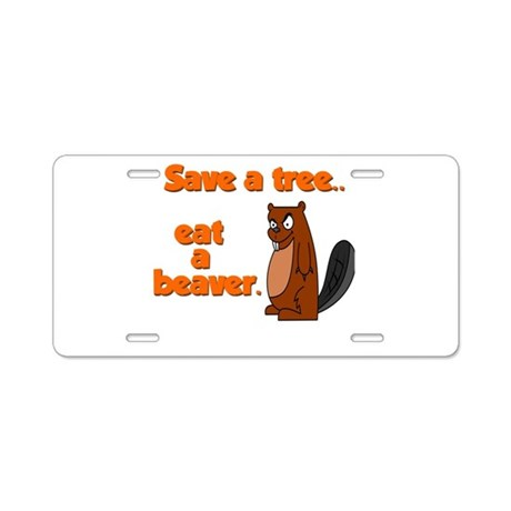 Funny Save A Tree Aluminum License Plate