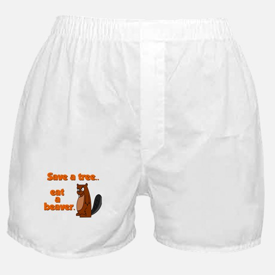 Funny Save A Tree Boxer Shorts