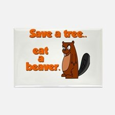 Funny Save A Tree Rectangle Magnet