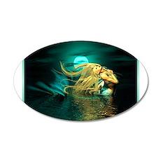 Best Seller Merrow Mermaid 22x14 Oval Wall Peel