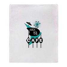 Area 51 Cafe Throw Blanket