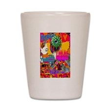 Magic Hippy Ride Poster Shot Glass