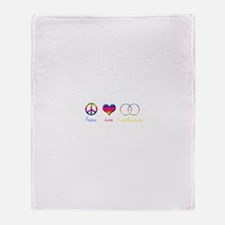 Peace Love Togetherness Throw Blanket