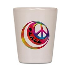 Abstract Peace Sign Ball Shot Glass