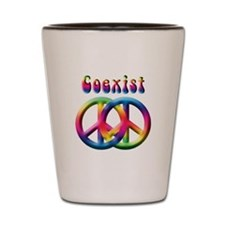 Coexist Peace Sign Shot Glass