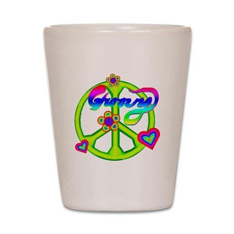 Groovy Peace Sign Shot Glass