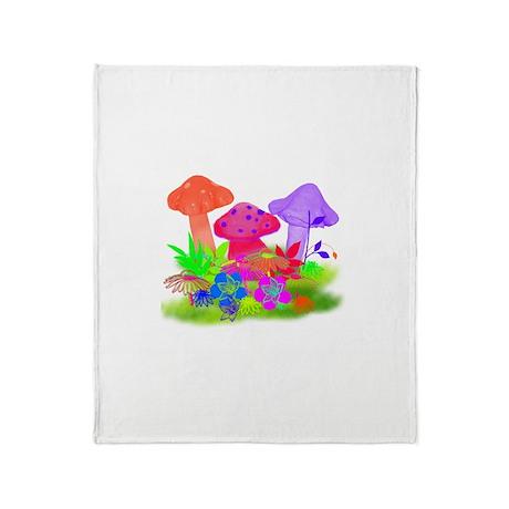 Magic Mushrooms Throw Blanket