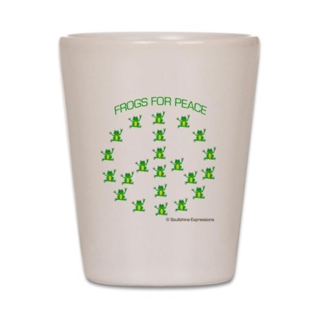 Frogs for Peace Shot Glass