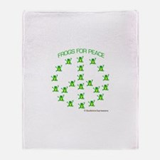 Frogs for Peace Throw Blanket