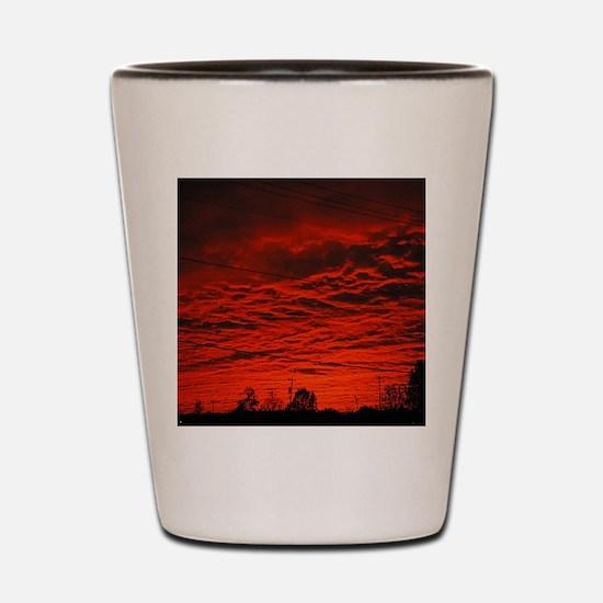 Delta Fiery Sunrise Shot Glass