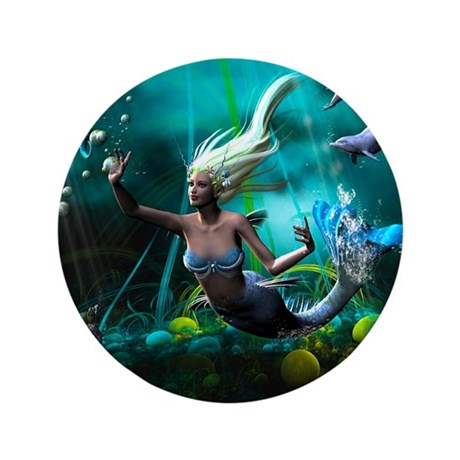 "Best Seller Merrow Mermaid 3.5"" Button"