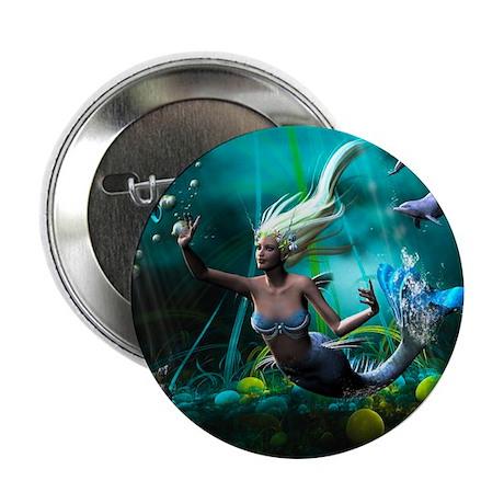 """Best Seller Merrow Mermaid 2.25"""" Button (10 pack)"""