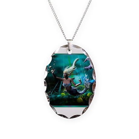 Best Seller Merrow Mermaid Necklace Oval Charm