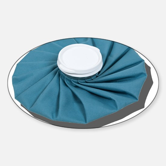 Pleated Ice Pack Sticker (Oval)