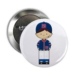 "Little Baseball Boy 2.25"" Button"