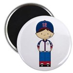 "Little Baseball Boy 2.25"" Magnet (10 Pk)"