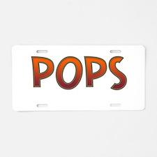 POPS Aluminum License Plate