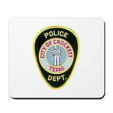 Crockett Police Mousepad