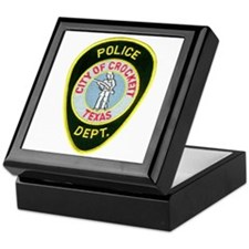 Crockett Police Keepsake Box