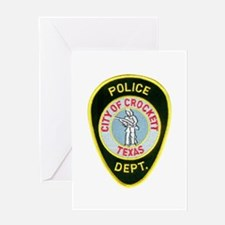 Crockett Police Greeting Card