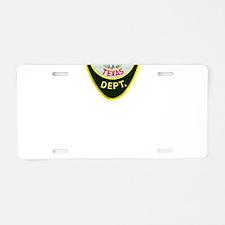 Crockett Police Aluminum License Plate