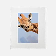 Curious Giraffe Throw Blanket
