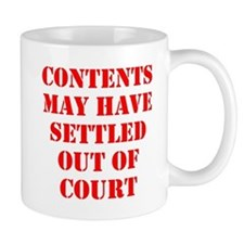 Settled Out of Court Small Mug