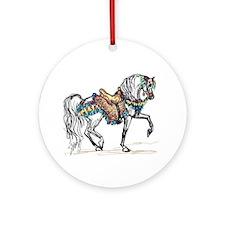 Cute Horse breeds Ornament (Round)