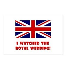 I Watched the Royal Wedding Postcards (Package of