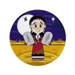 "Moses with 10 Commandments 3.5"" Button (100 P"