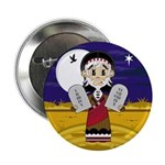 "Moses with 10 Commandments 2.25"" Button (100"