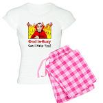God is Busy Women's Light Pajamas