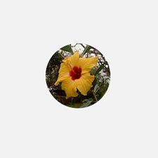 Yellow Hibiscus Mini Button