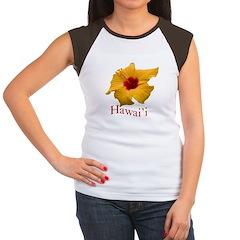 Yellow Hibiscus Women's Cap Sleeve T-Shirt