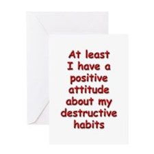 Positive Attitude about Habits Greeting Card