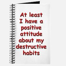 Positive Attitude about Habits Journal