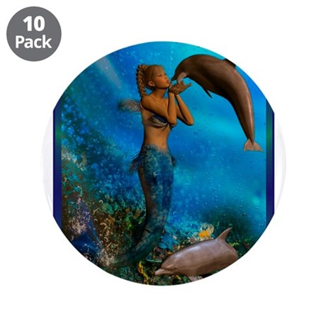 "Best Seller Merrow Mermaid 3.5"" Button (10 pack)"
