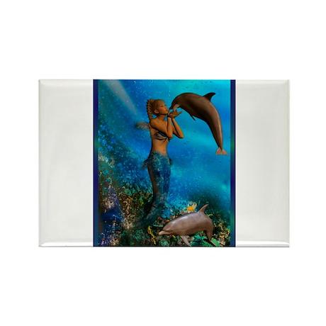Best Seller Merrow Mermaid Rectangle Magnet (10 pa