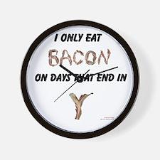 Bacon Days Wall Clock