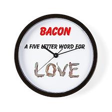 Bacon Love Wall Clock