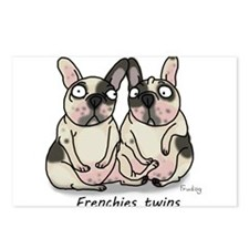 Frenchie Twins Postcards (Package of 8)