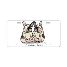 Frenchie Twins Aluminum License Plate