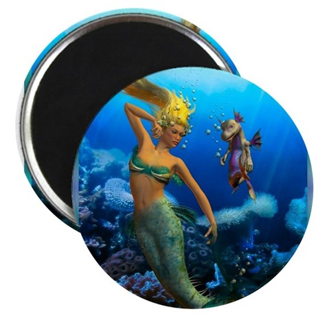 """Best Seller Merrow Mermaid 2.25"""" Magnet (10 pack)"""