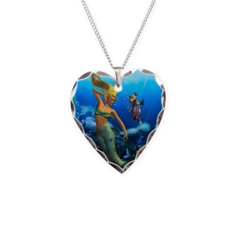 Best Seller Merrow Mermaid Necklace Heart Charm